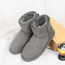 Limited time discount winter 100% new Australian pure natural sheep fur snow boots casual fashion casual boots wholesale(China)