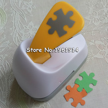 Free Shipping M size Puzzle shaped save power paper/eva foam craft punch Scrapbook Handmade punchers DIY hole punches puncher