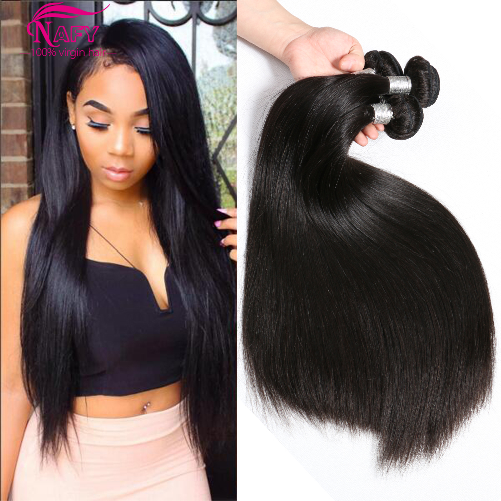 Mink Brazilian Virgin Hair Straight 4 Bundle Deals Human Hair 8A Unprocessed Brazilian Straight Weave Hair Tissage Bresilienne<br><br>Aliexpress