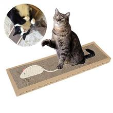 Funny Pet Cat Honeycomb Design Mouse Pattern Scratch Play Pad Corrugated Paper Safe Card Board Scratcher Toy(China)