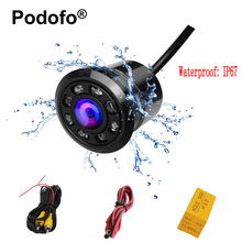 Podofo Mini Car Backup Camera HD Color Reverse Rear View Cameras with 8 LED Night Vision 170 Degree Waterproof Color CCD Image(China)