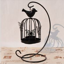 Hanging Design Metal Vintage Butterfly Pattern Lantern Candlestick Wedding Home Decor Bird Cage Candle Holder Home Decoration