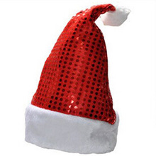 Best selling Deluxe Sequin Santa Hat Outfit Accessory for Christmas Nativity Fancy Dress