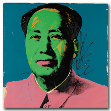 Andy Warhol Style 1972 Artworks Chairman Mao Green Face Oil painting Pop Art Wall Pictures for living room Home Decoration