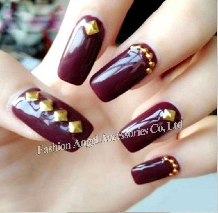 Nail art 2000 nail art ideas metallo decorazione nail art 2000 pz lotto 3mm argento oro piazza prinsesfo Choice Image