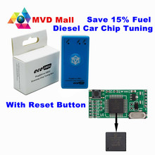 Easily Use With Reset Button ECO OBD2 Diesel Car Chip Tuning Box Plug And Drive Ecoobd2 Economy Save 15% Fuel Raise Hidden Power