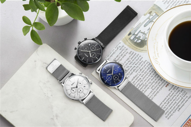 Brand Sport Men Watch Top Brand Luxury Male Leather Waterproof Chronograph Quartz Military Wrist Watch Men Clock saat