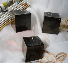 3pcs/pack Square Block Flower scented candles store party decor home decoration showroom art decor smokelss 5x5x5cm(China)