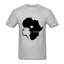 2017 Fashion Men t-shirt Customized African Hair Love Tee Tops Personality Short Sleeve Men T Shirts Plus Size(China)
