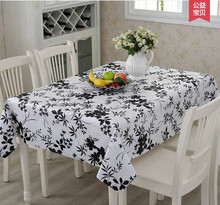 Multi-size PVC Table Cloth Plastic Waterproof Oil Dining Tablecloth flower Printed Table Cover Overlay free shipping(China)