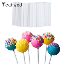 100pcs 10cm Lollipop Stick Food-Grade Plastic Pop Sucker Sticks Cake Pop Sticks For Lollypop Candy Chocolate Sugar Pole(China)