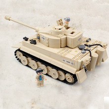 New Puzzles Large Panzer The Tiger Tank Building Blocks Kit Toys Military Army Toys Tank Models Lepin Technic Children Toy Gifts