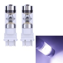 1000Lm 2x High Power Led Car Lights T25 3156 100w Led Running Lights Brake Lights White Stop Tail Brake Turn Light Bulb
