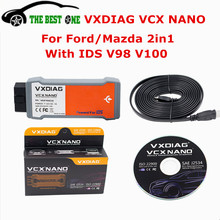 100% Original Diagnostic Tool VXDIAG VCX NANO For Ford/Mazda 2 in 1 With IDS V98 V100 Better Than VCM II FOR FORD Free Shipping