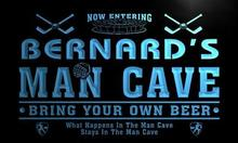 x0142-tm Bernard's Man Cave Hockey Bar Custom Personalized Name Neon Sign Wholesale Dropshipping On/Off Switch 7 Colors DHL(China)