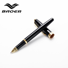 Full Metal Baoer 388 roller ball Pen Medium 0.5mm refill Gold Clip Black/ Sliver/ Matte rollerball Pen