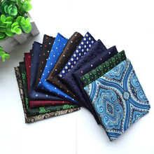 SCST Brand Designer 2017 New Novelty Blue Paisley Floral Print Mens Silk Handkerchiefs For Men Pocket Square 20 Model A064