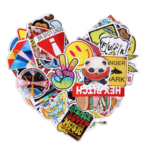 100pcs Car Styling Funny Cool Sticker Bomb Waterproof Graffiti Doodle Sticker Skateboard Decal Toy Sticker Cartoon Stickers