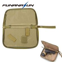 Tactical Pistol Carry Bag Portable Military Handgun Holster Pouch Durable Hand Gun Soft Case Portable Gun Magazine Pouch(China)