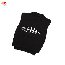 AD Cute Fish Bone Baby Boys Girls Sweaters Vests Kids Toddler's Vests Children's Winter Clothes Clothing 12M-3T(China)