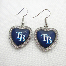 New 5pair/lot Baseball Team Tampa Bay Rays Earring for Fashion Jewelry Earrings MLB Sports Earrings Jewelry(China)