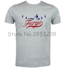 FARGO - NEW - T-SHIRT - TV - FILM - INSPIRED - SCREEN PRINTED Cotton Short Sleeve T shirt free shipping