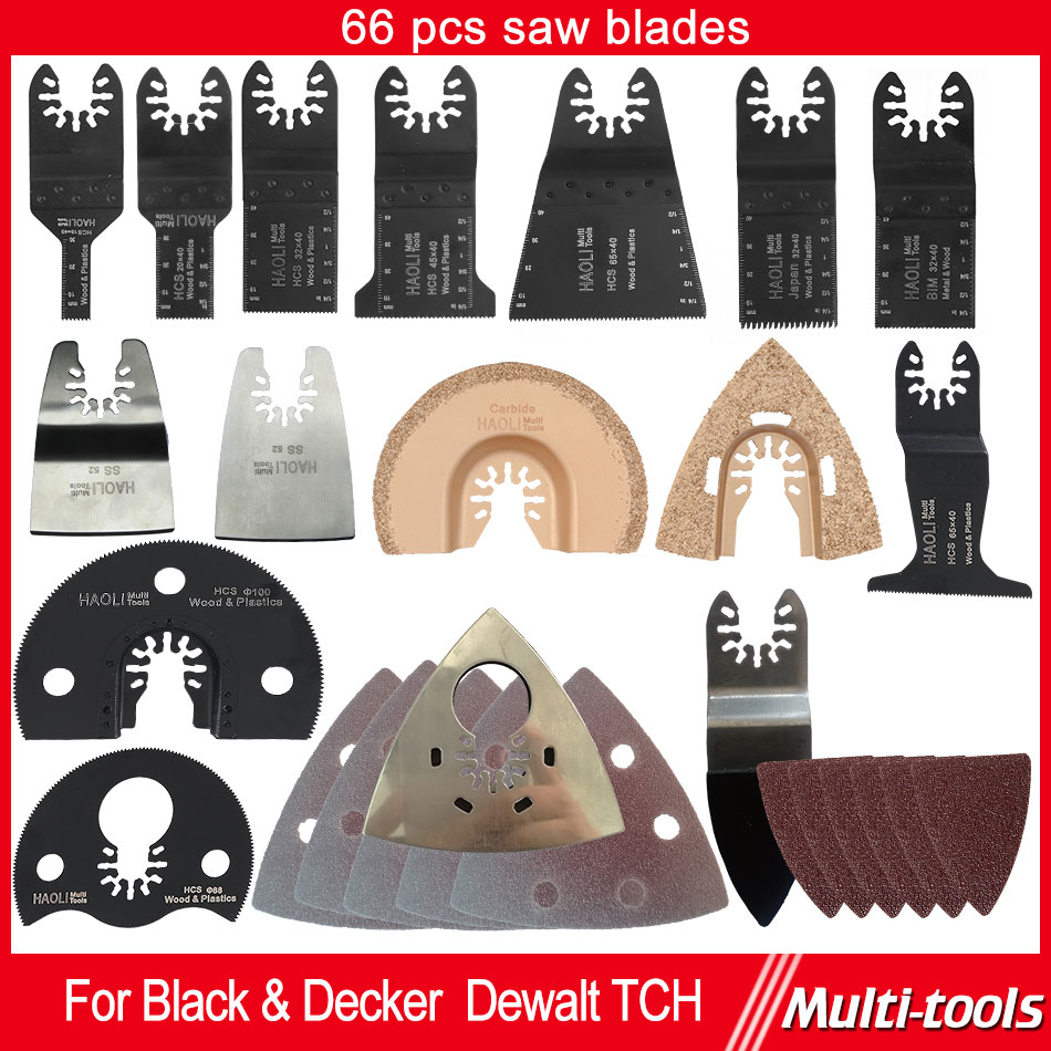 66 pcs Oscillating multi Tool Saw Blades Accessories fit for Multimaster power tools as Fein,Black&amp;Decker etc,quick change tool<br><br>Aliexpress
