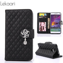 For Case Samsung Galaxy Note3 Note4 Note5 N9000 N9100 N9200 Leather Flip Cover Note 3 4 5 Wallet Case Handbag Coque Fundas Pouch