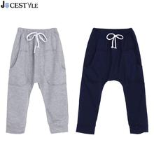 Cotton Toddler Kids Baby Boys Girls Sports Fitness Solid Harem Pants Boys Trousers Bottoms Kids Leggings Boys Clothes