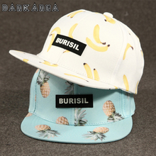 New Fastion Fruit pattern Snapback Caps Adult & Kids Hat Caps Children Baseball Caps For Boys Girls Sun Hip Hop Summer Hat