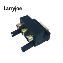 Larryjoe New DVI 24+5 Male to 3 RGB RCA AV Female Adapter Converter for LCD HDTV DVD(China)