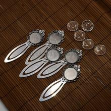 20mm Clear Domed Glass Cabochon Cover for Antique Silver DIY Alloy Portrait Flower Bookmark Making, Cadmium Free & Nickel Free