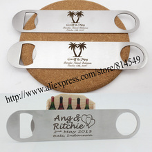 10pcs/lot personalized Wedding gift of stainless steel bottle opener , Personalized logo Free(China)
