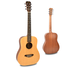 Spruce solid top acoustic guitar 34 inch Mahogany solid top electric acoustic guitar musical instrumement Custom OEM Guitar fa