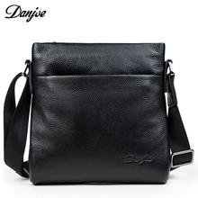 DANJUE Designer High Quality Genuine Leather Shoulder Bags For Men Real Cowhide Mini Messenger Bag Crossbody Bags Business