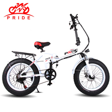 "Pride Electric bike 20""Aluminum Foldable electric Bicycle 48V LithiumBattery 250W 6Speed Electric Fat Tire bike &Mountain e bike(China)"