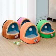 Pet Dog Cat Bed Puppy Cushion House Warm Soft Basket Toy Ball Kennel Mat Blanket
