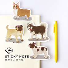1 x cartoon Pet Dog memo pad dog sticky note paper sticker kawaii stationery pepalaria office school supplies