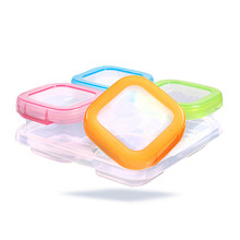 120ML 4 Grids Crisper Ice Lattice Box Cover Plate Freezer Baby Food Storage Container Fresh Keeper Preservation