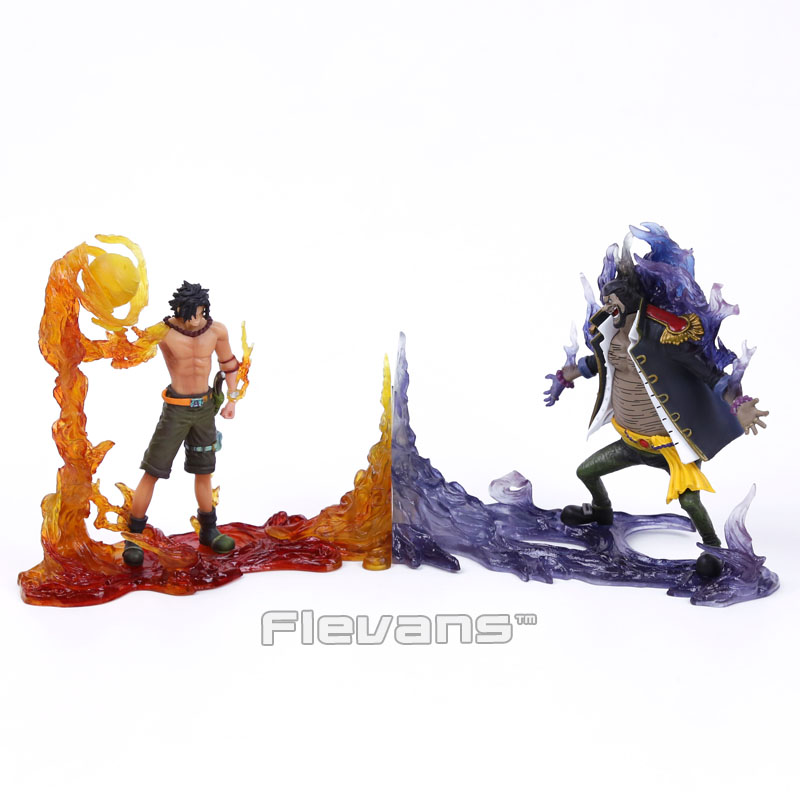 Anime One Piece DXF The Rival vs1 Portgas D Ace VS Marshall D Teach Figures Collectible Model Toys 2pcs/set Boxed<br>