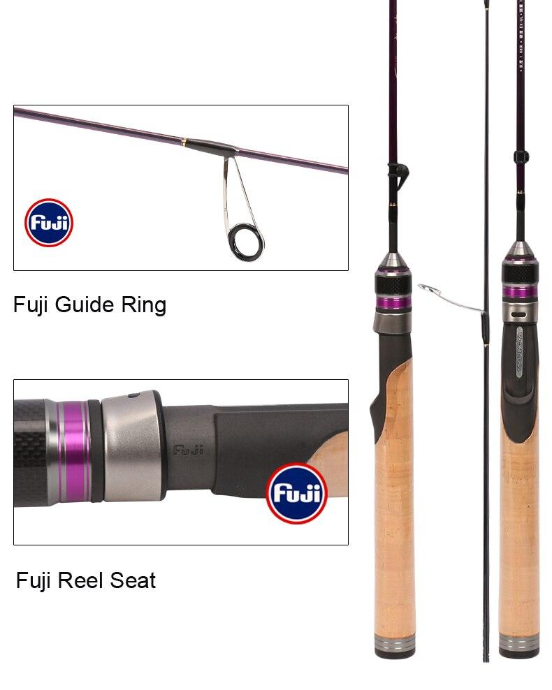 Tsurinoya 4' 6 UL Carbon Spinning Rod 1-6g Lure Weight, 2-6lb Line Weight Ultralight Fuji Fishing Rod Carbon Ul Spin Rod  (5)