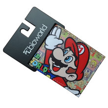 Super Mario World Wallets PU Leather Gift Purse for Young Cartoon Anime Card Holder Money Bags Funny Games Short Wallet