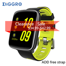 DIGGRO GV68 Smart Watch IP68 Waterproof MTK2502 Bluetooth 4.0 SmartWatch Support Pedometer Heart Rate Monitor For iPhone Android(China)