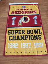 Washington Redskins Flag 3ft x 5ft Polyester NFL Washington Redskins Banner Flying Size No.4 150* 90cm Custom flag(China)