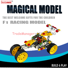 Free shipping 3 d puzzle diy metal assembles toy model Alloy assembly truck racing in Germany