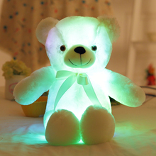 50cm Big Music LED Colorful Glowing Teddy Bear Luminous Plush Toys Light Up Led Teddy Bear Stuffed Toys Doll Kids Christmas Gift(China)