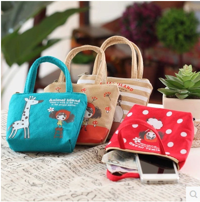 2016 New Arrival 11*4.5*10.5CM Cartoon Coin Purse Women Cute Canvas Coin Bag Ladies Wallets Headset Package Kids Gifts GG-11<br><br>Aliexpress