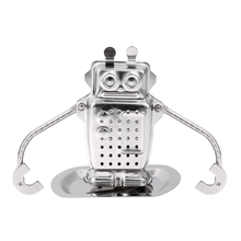 Creative Stainless Steel Robot Rocket Monkey Shaped Loose Leaf Infuser Tea Filter Herbal Spice Strainer Diffuser Worldwide Store