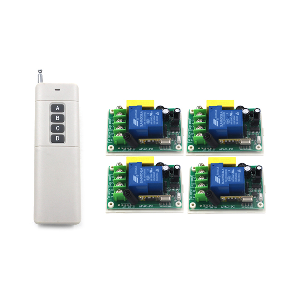 Free Shipping AC 220V 30A ON/OFF 1CH Wireless Lamp Remote Control High Quality WALL Switch for led SKU: 5241<br>