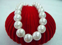 "BIG 20mm AAA south sea white shell pearl necklace 17""^^@^Noble style Natural Fine jewe FREE SHIPPING"